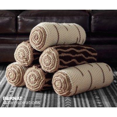 Crochet Timber Pillows| Croceht | Free Pattern | Yarnspirations ...