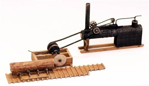 HO Scale Kit Portable SAWMILL with Boiler and Log | Logging