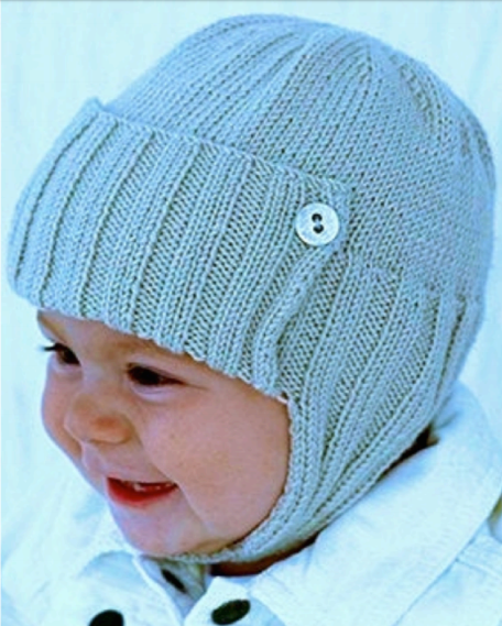 3b23f33c960 Free Knitting Pattern for Aviator Style Baby Hat - The James or Jane Baby  Hat includes sizes for 3-6 months
