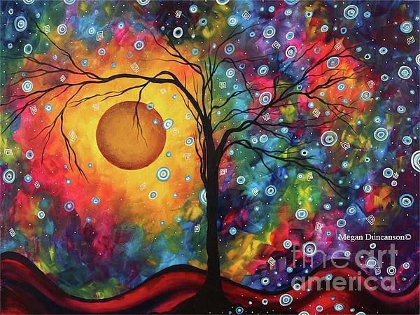 Original Vibrant Abstract Landscape Painting For Sale By Megan Duncanson Painting by Megan Duncanson. Original and Limited Edition Prints available at www.madartdesigns.com