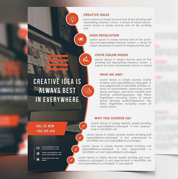 minimal corporate flyer template graphics concept samples
