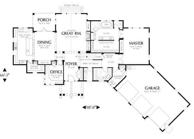 House Floor Plans With Angled Garage Craftsman House House