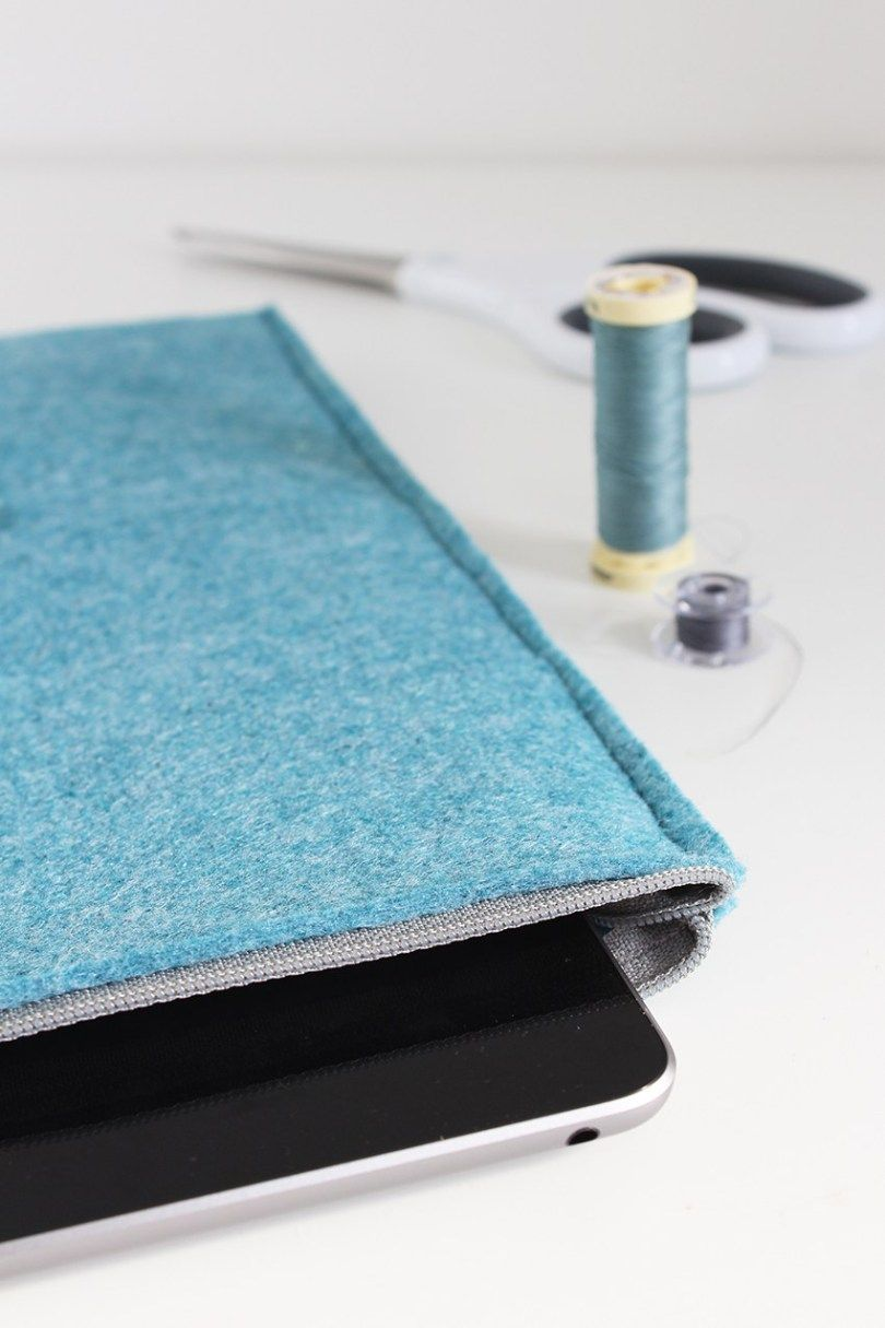 Sewing pattern: DIY felt iPad sleeve