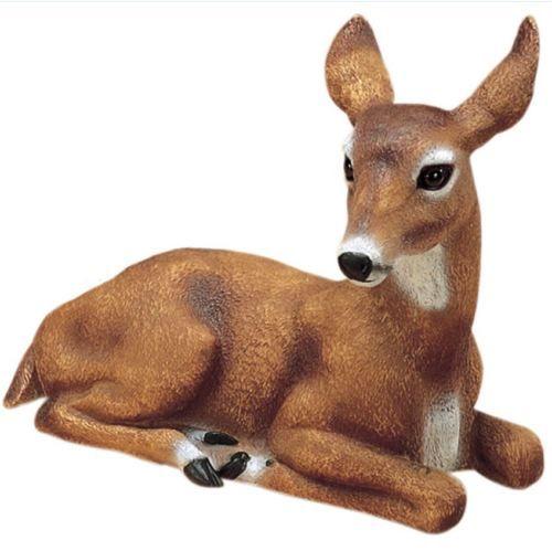 Doe Deer Garden Statue Outdoor Animal Lawn Yard Decor