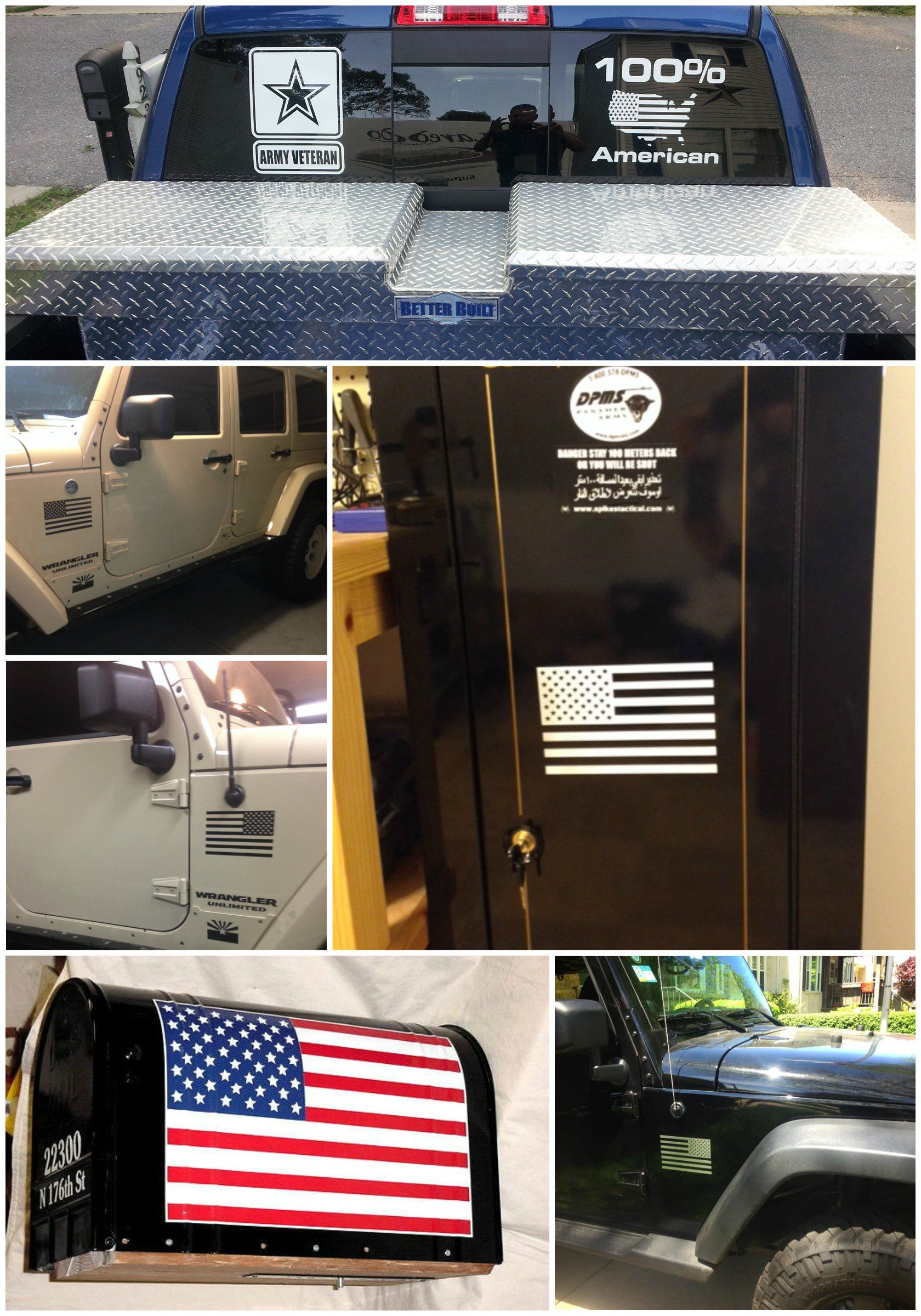 American Flag Decals For Jeeps Stickers For My Jeep Pinterest - Custom windo decals for jeepsjeep wrangler side decals and stickers jeep gear partsmods