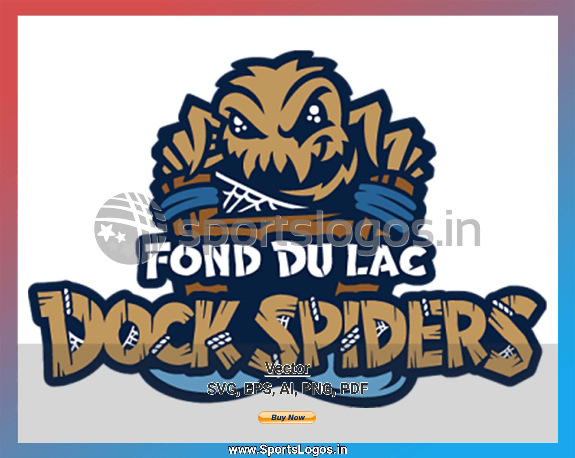 Fond Du Lac Dock Spiders Baseball Sports Vector Svg Logo In 5 Formats Spln001515 Sports Logos Embroidery Vector For Nfl Nba Nhl Mlb Milb And More