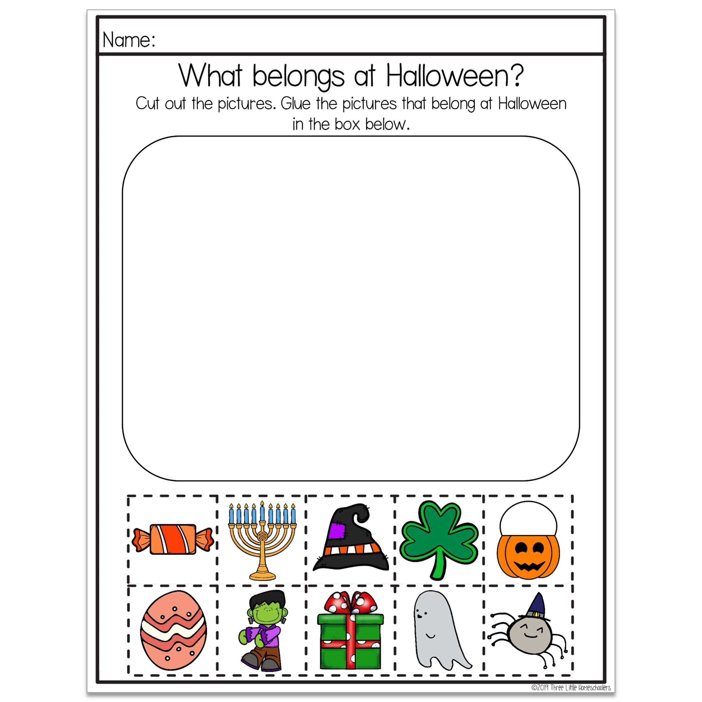 Holiday Themed Sorting Worksheets And Finish The Picture