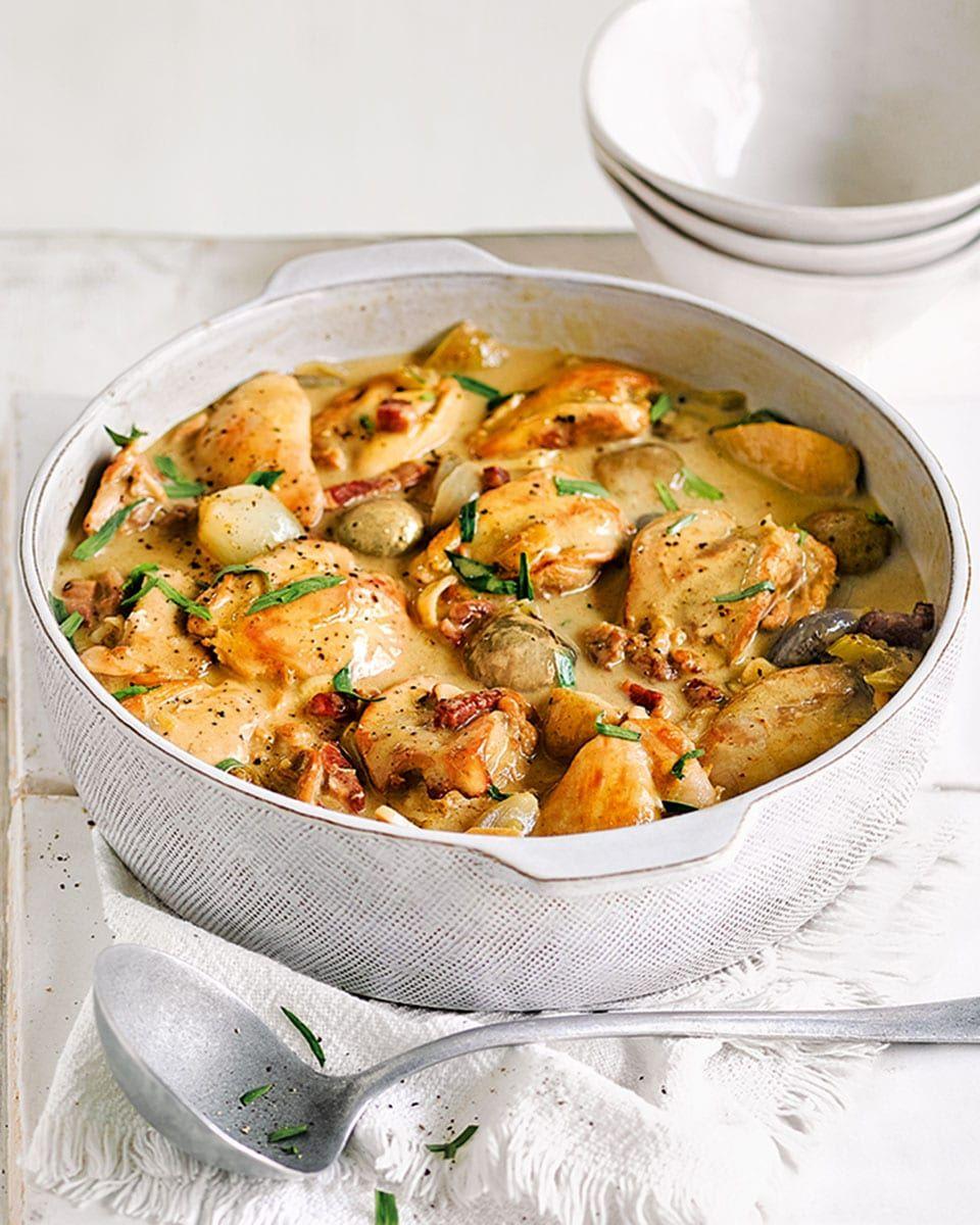 Creamy tarragon chicken casserole recipe | delicious. Magazine