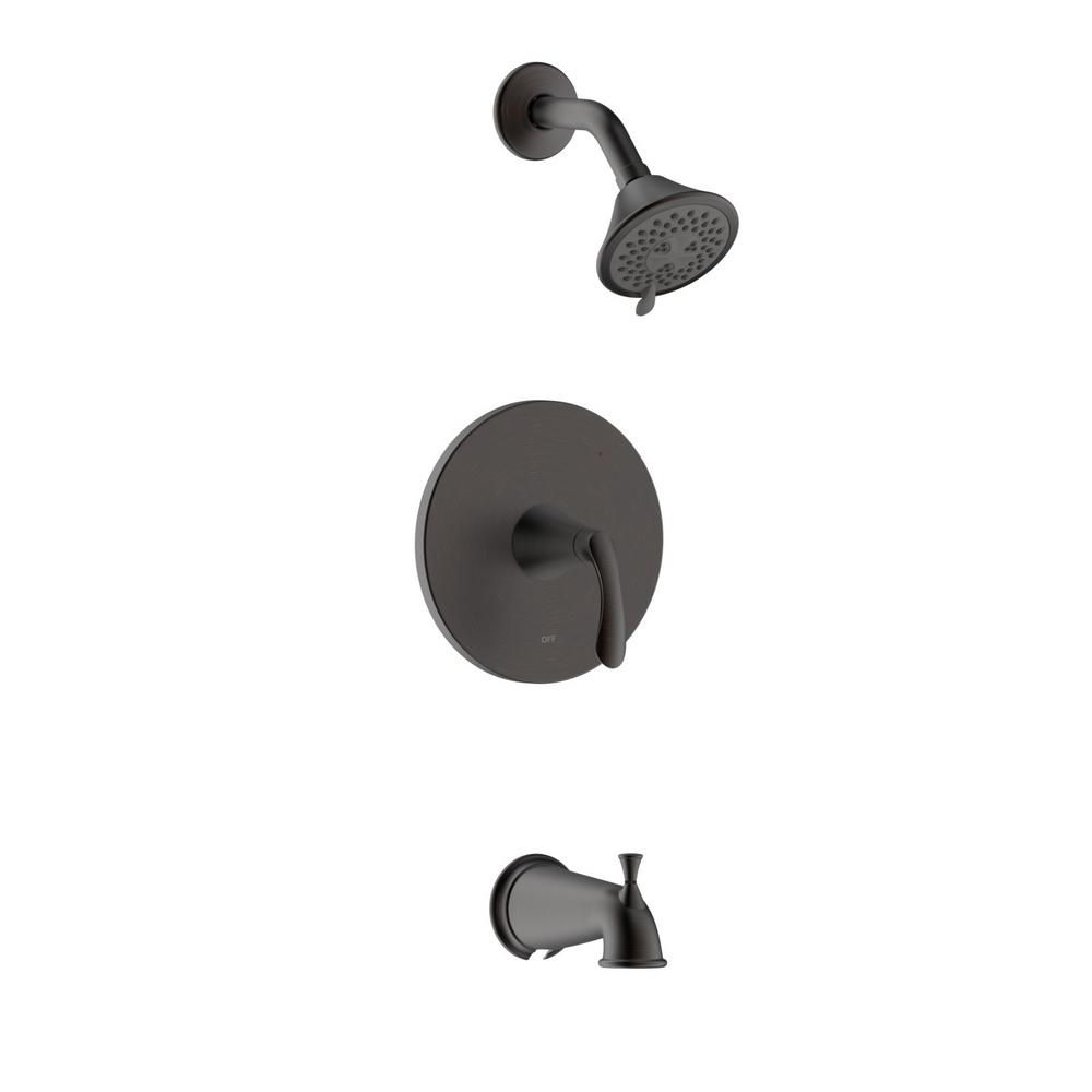 Fontaine By Italia Arts Et Metiers Single Handle 3 Spray Regular And Massage Tub And Shower Faucet With Rough In Valve In Oil Rubbed Bronze Tub Shower Faucets Faucet Shower Tub