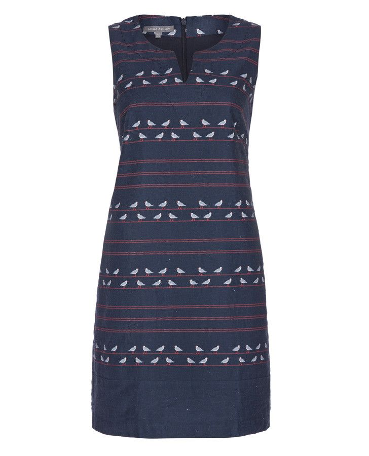 Laura Ashley Seagull Print Shift Dress | Red, White & Blue | Pinterest