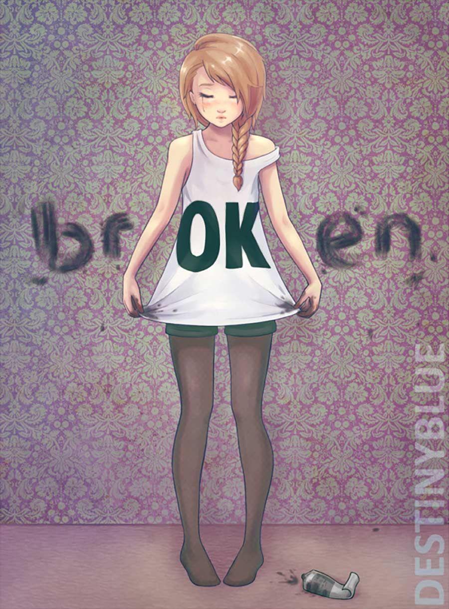 Illustrationen gegen die Depression – Gefühlsmalerei von DestinyBlue