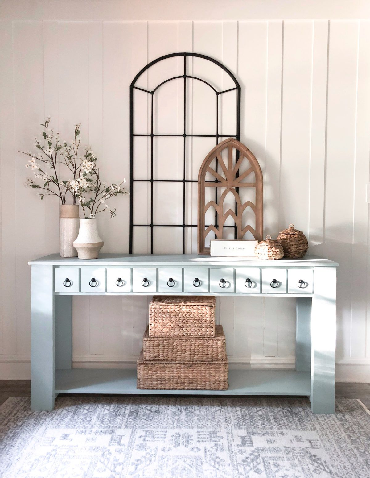 Faux Drawer Console Table Free plans and easy to follow