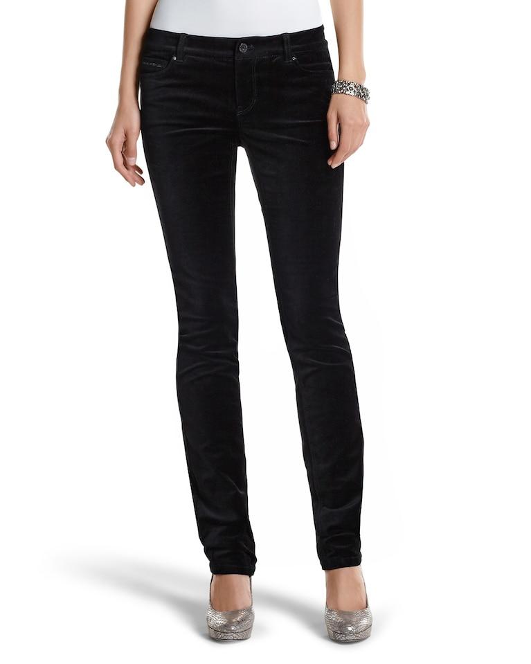 9ca29cdd08daa Women's The Mod (Slim) Noir Sparkle Velvet Pant by White House Black Market