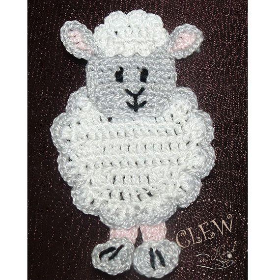 Crochetpedia: 2D Crochet Farm Animal Applique Patterns | crochet ...