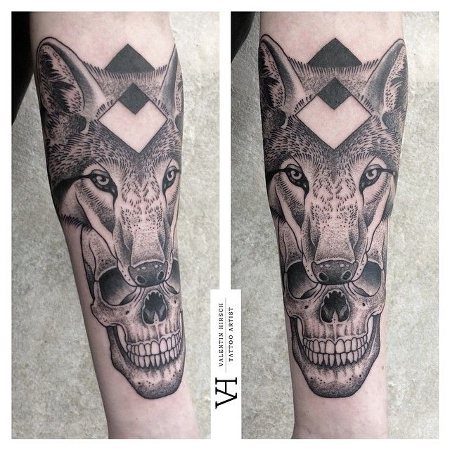 d24fa726c wolf-skull for @skippymuore, first tattoo for him, thanks ...