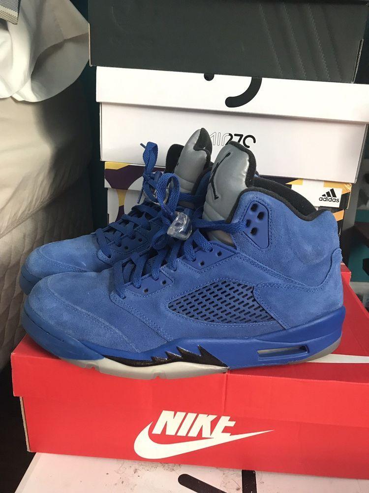 online store e3f98 21de1 Nike Air Jordan Retro 5 V Royal Blue Suede Size 10 (17423-1EJ)  fashion   clothing  shoes  accessories  mensshoes  athleticshoes (ebay link)