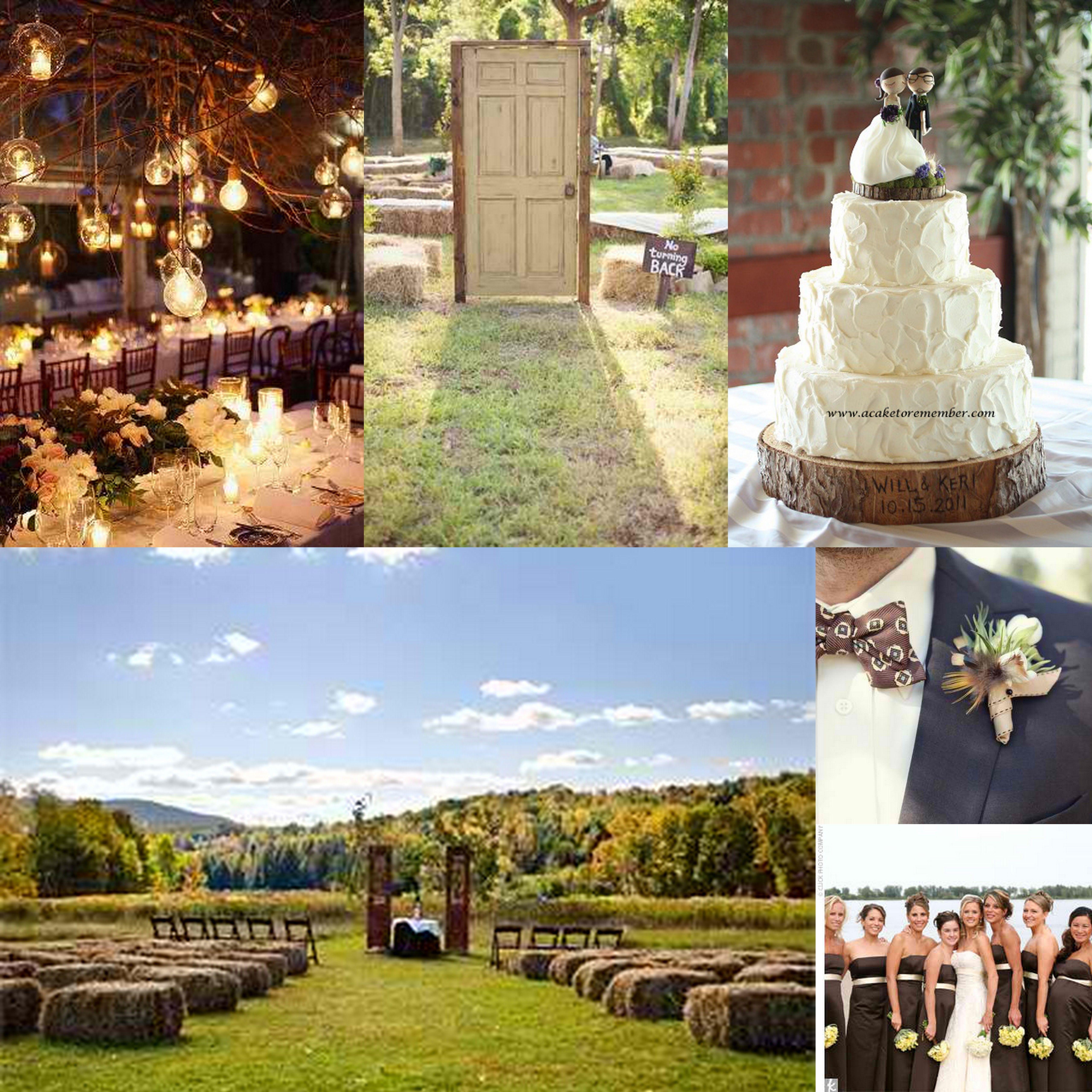 Rustic Outdoor Country Weddings Idea