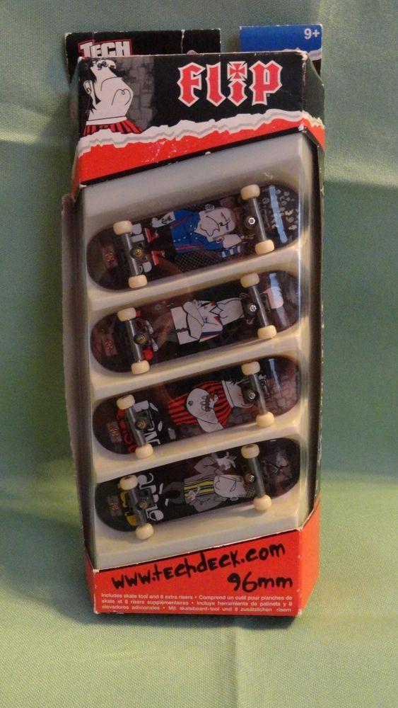Tech Deck 4 Pack Fingerboards Skateboard asst #13610 Flip NIB