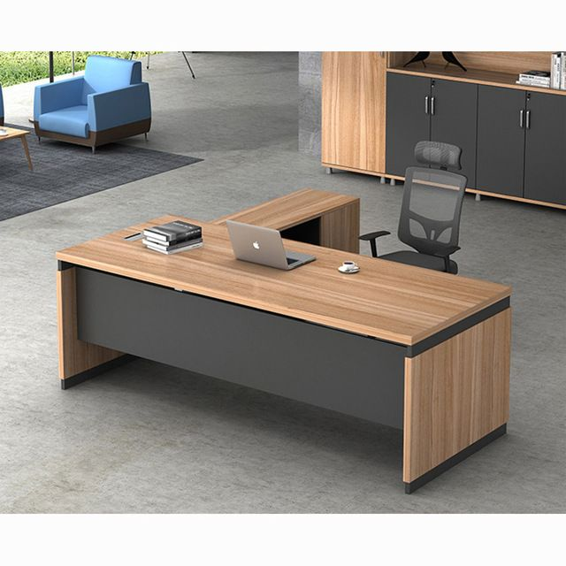 Source Latest Modern L-shape Executive Wooden Office