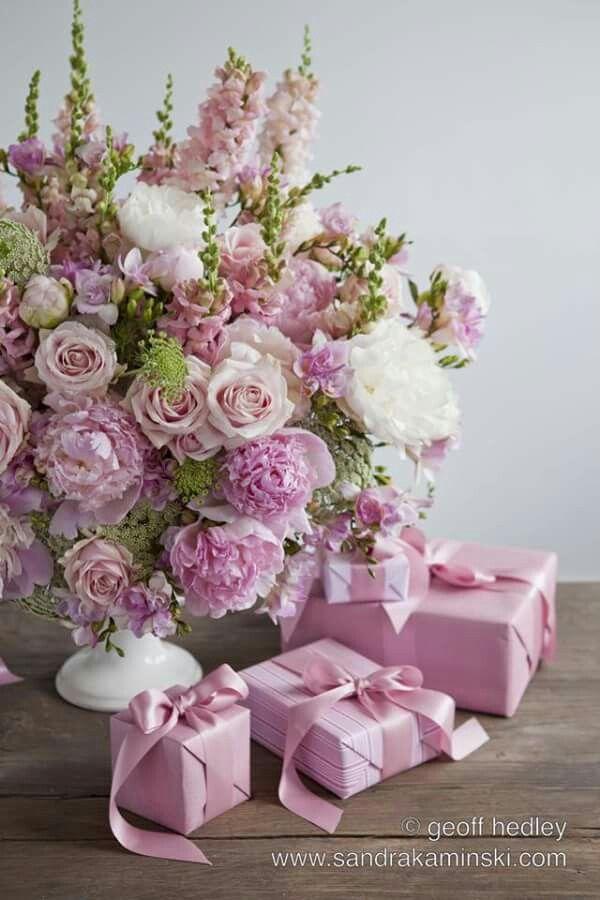 Deco Florale Pink Flower Arrangements Happy Birthday Flower