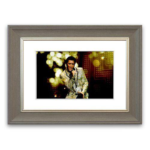 Elvis Presley 68 Special' gerahmter Fotodruck East Urban Home Größe 93 cm Höhe x 70 cm Breite, Rahmenoptionen Grau Gallery