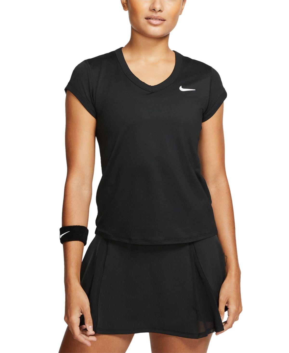 Nike Women S Court Dri Fit Tennis T Shirt Reviews Women Macy S In 2020 Nike Tennis Dress Workout Shorts Women Tennis Tops