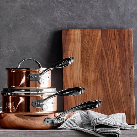 Williams Sonoma Thermo-Clad™ Copper 10-Piece Cookware Set | Williams Sonoma
