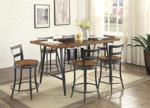 5 PC Homelegance Vino Collection Counter Height Dining Table Set ...