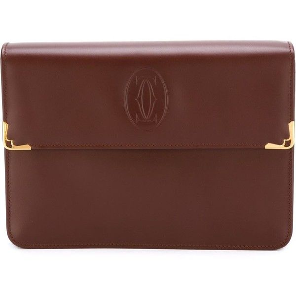 Cartier Vintage Embossed Logo Clutch 595 Liked On Polyvore Featuring Bags Handbags
