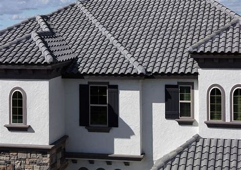 Homes With Light Gray Tile Roofs Bing Images House Roof Exterior House Color Spanish Tile Roof