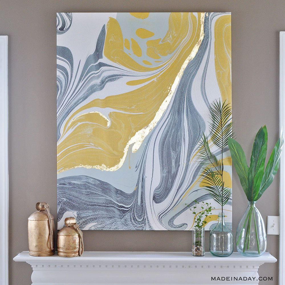 Marble wall art, marble canvas art, gold gilded marble canvas ...
