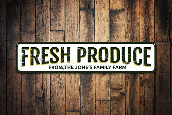 Metal Home Sign Decor Fresh Produce Sign Personalized Farm Sign Custom Farmers Market