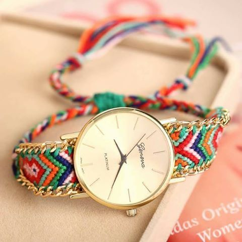 quartz knitting buy belt girls watches analog wrist handmade fashion bracelet chain watch round product women rope online thread dial casual geneva