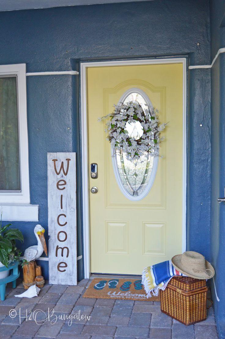 Summer Refresh: Yellow Painted Front Door | Bloggers\' Best DIY Ideas ...