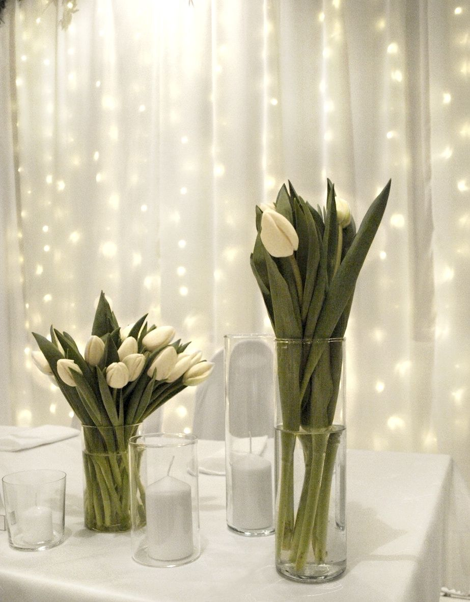 Wedding Decor Wedding Decorations Wedding Candles Fresh Tulips