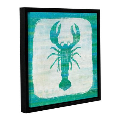 Breakwater Bay Ahoy II Blue Green Framed Graphic Art on Wrapped Canvas Size: