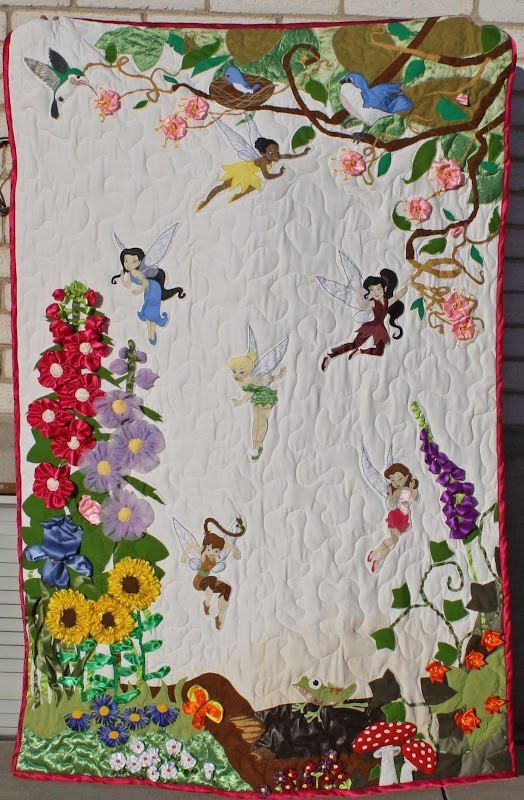Fairy Quilt Applique Quilts Cute Quilts Disney Quilt