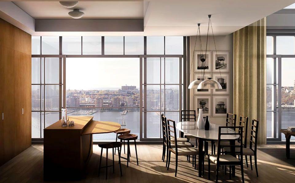Captivating NY Apartment Interior Design   Kitchen Interior Design Of 200 Eleventh  Avenue Residential Apartment .