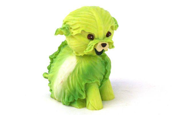 Green Lettuce Dog Home Grown Enesco 2004 Resin Figurine 4002362