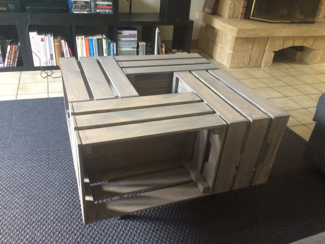 Hack Ikea Knagglig Diy Coffee Table Diy En 2019 Table