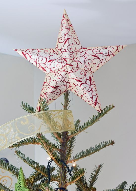 diy christmas tree topper includes 3 d star template and tutorial for creating your own star