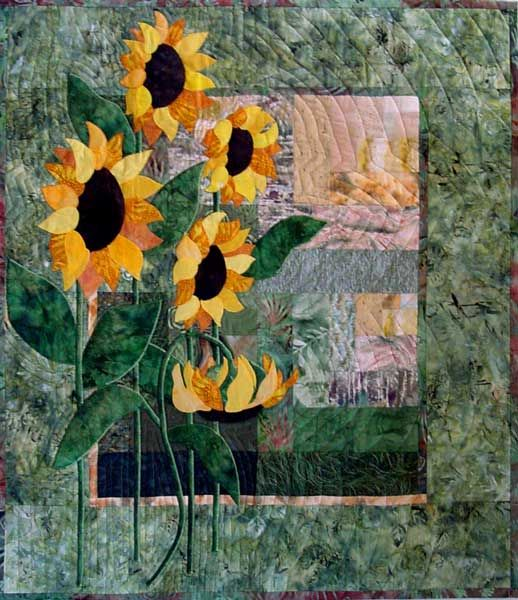 craftsy quilts profile chains baby quilt sunflower babychainsbabyquilt