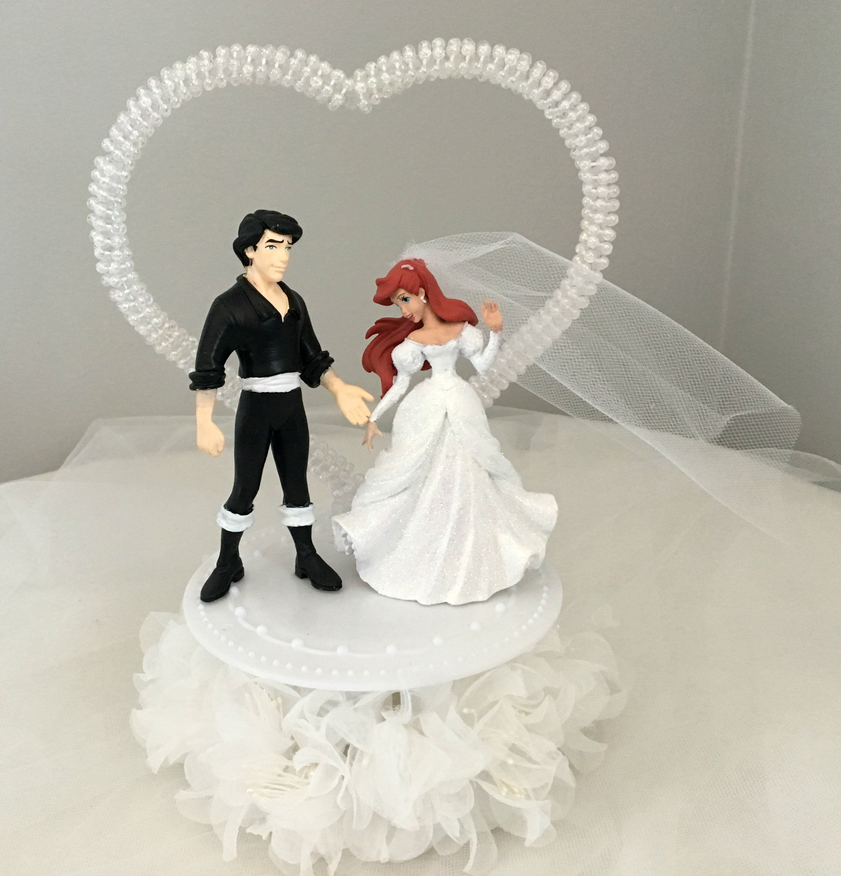 The Little Mermaid Wedding Cake topper- Princess Ariel and Eric ...