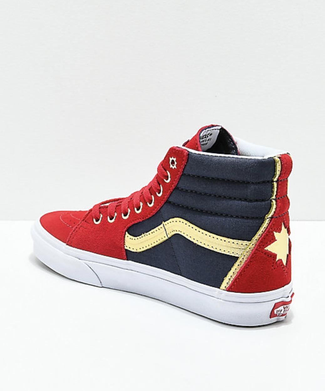 Vans x Marvel Sk8-Hi Captain Marvel Red