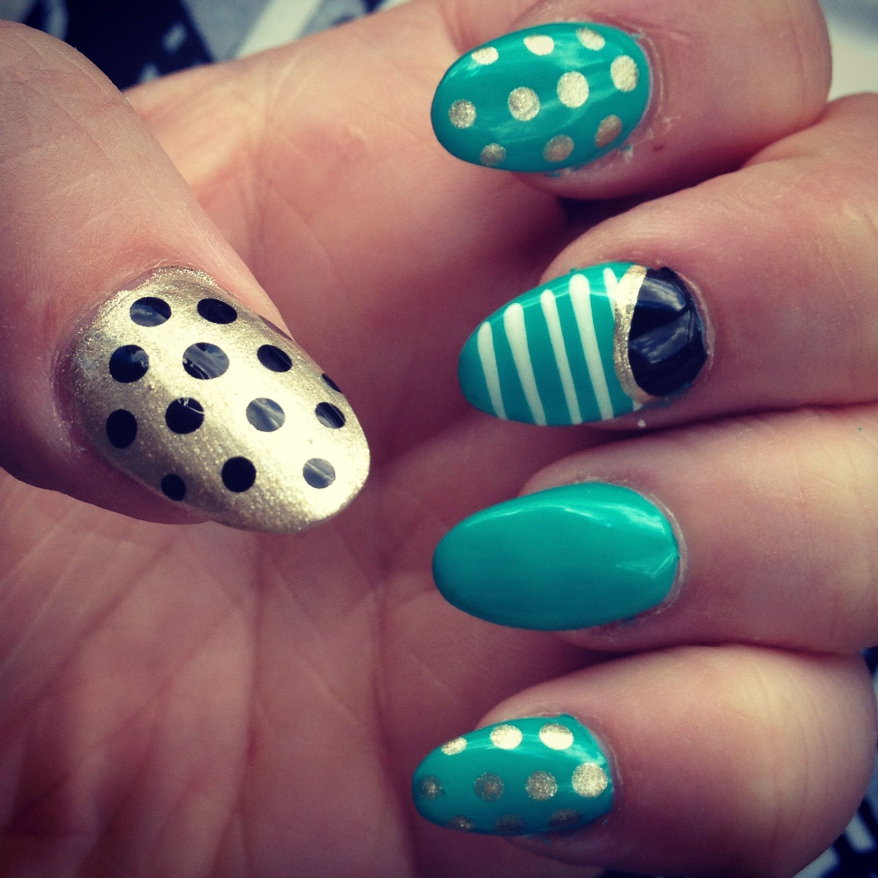 Summer nails | Nails | Pinterest | Art nails, Green nail art and ...