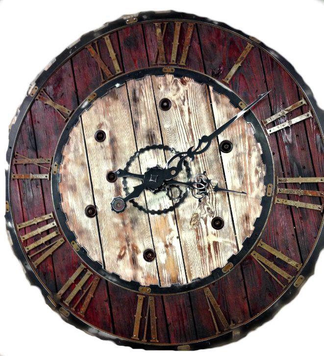 Large Vintage Steampunk Clock Six Foot Diameter