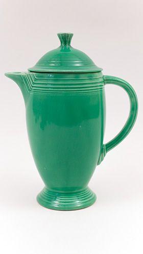 Fiesta Vintage Original Green Coffee Pot Fiestaware Pottery For Sale Fiestaware Fiesta Dinnerware Fiesta Kitchen