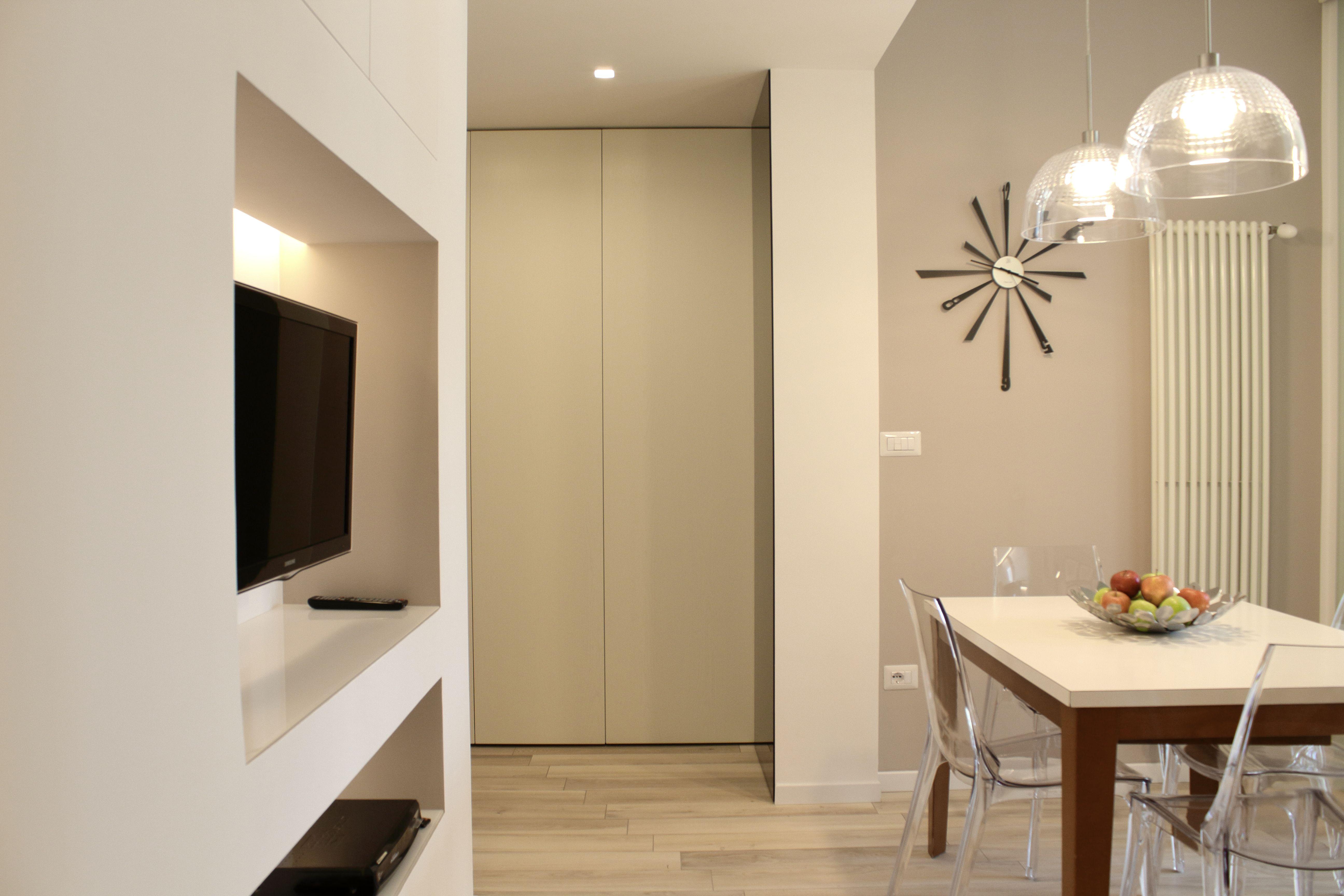 Zona living in stile contemporaneo particolare zona ingresso con