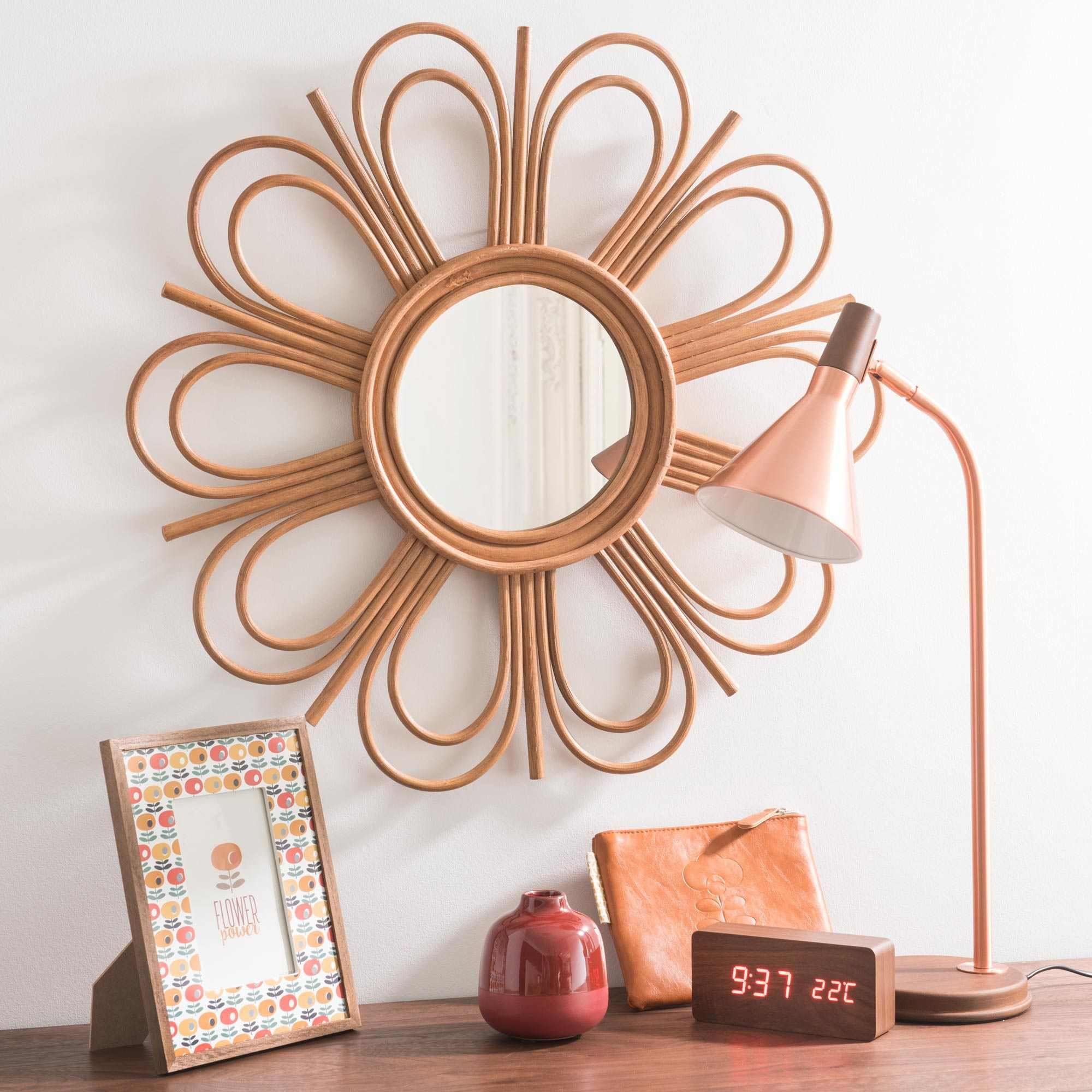 Espejo de mimbre D 62 cm VINTAGE FLOWER | Deco | Pinterest | Mimbre ...