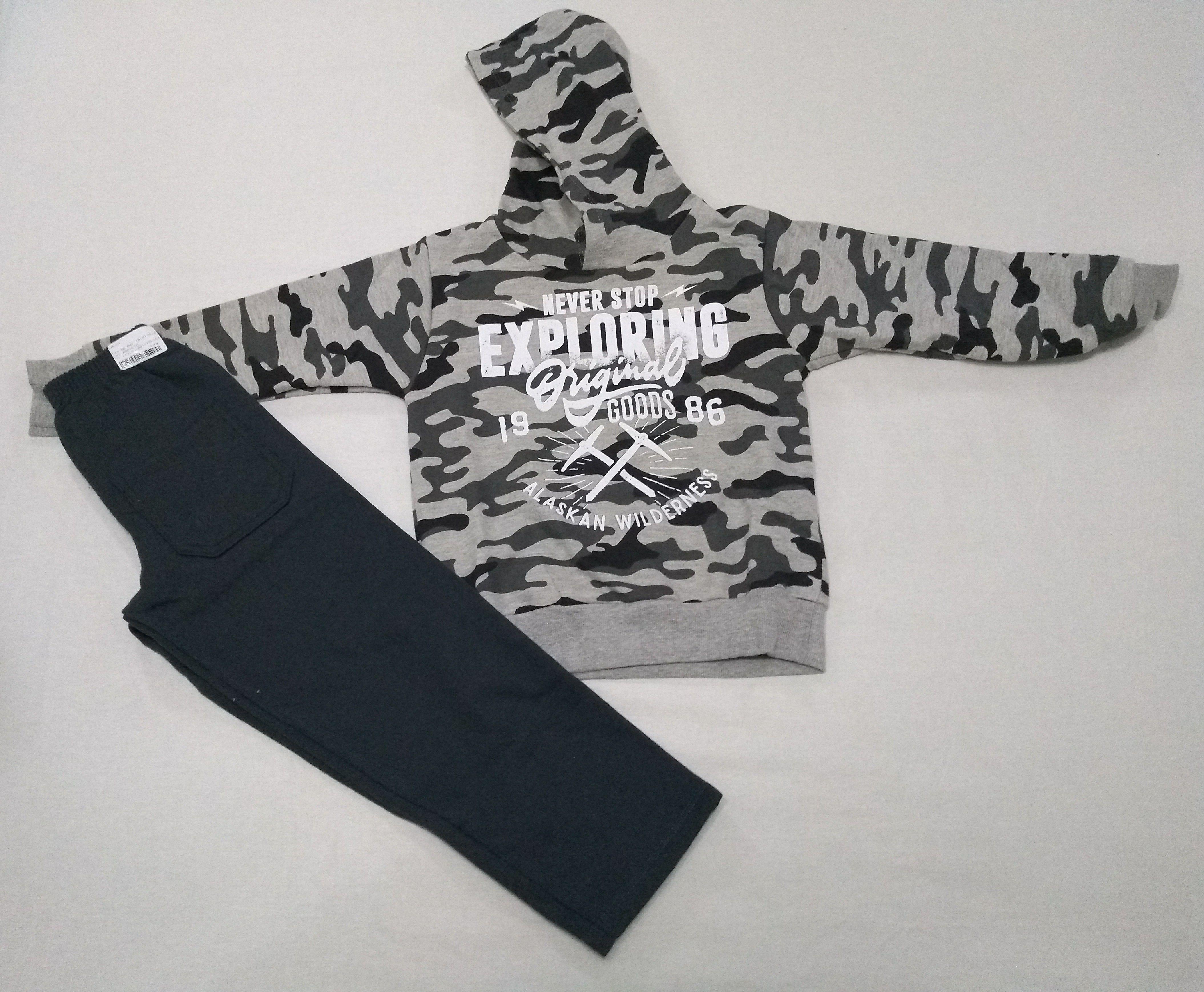 426d7b19c6 Conjunto Moletom Infantil Fakini Menino Estampa Camuflada Composto por Calça  e Blusa com Capuz Blusa com
